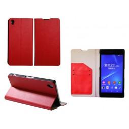 Sony Xperia Z2 - Preklopna torbica (HT) - rdeča