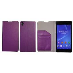 Sony Xperia Z2 - Preklopna torbica (HT) - vijolična