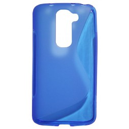 LG G2 mini - Gumiran ovitek (TPU) - modro-prosojen SLine