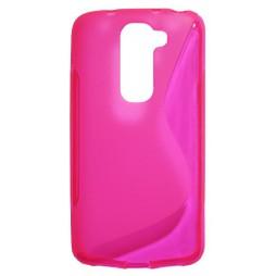 LG G2 mini - Gumiran ovitek (TPU) - roza-prosojen SLine