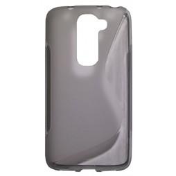 LG G2 mini - Gumiran ovitek (TPU) - sivo-prosojen SLine