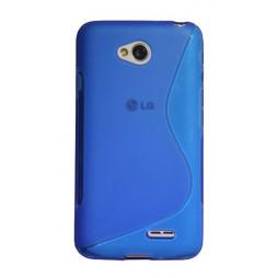 LG L70 - Gumiran ovitek (TPU) - modro-prosojen SLine