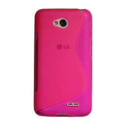 LG L70 - Gumiran ovitek (TPU) - roza-prosojen SLine