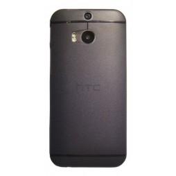 HTC One M8 - Okrasni pokrovček (16) - črno-prosojen