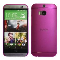 HTC One M8 - Okrasni pokrovček (16) - roza-prosojen
