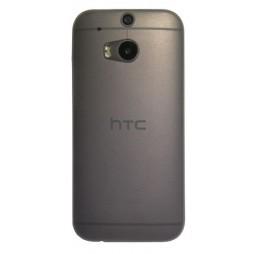 HTC One M8 - Okrasni pokrovček (16) - sivo-prosojen