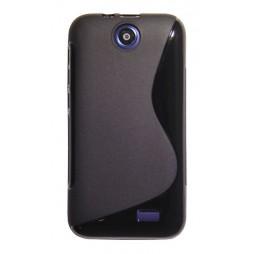 HTC Desire 310 - Gumiran ovitek (TPU) - črn SLine