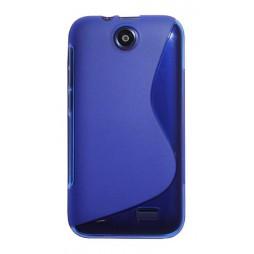 HTC Desire 310 - Gumiran ovitek (TPU) - modro-prosojen SLine