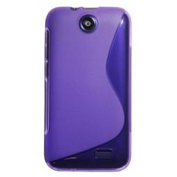 HTC Desire 310 - Gumiran ovitek (TPU) - vijolično-prosojen SLine