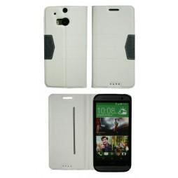 HTC One M8 - Preklopna torbica (47G) - bela