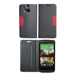 HTC One M8 - Preklopna torbica (47G) - črna