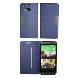 HTC One M8 - Preklopna torbica (47G) - modra