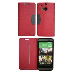 HTC One M8 - Preklopna torbica (47G) - rdeča