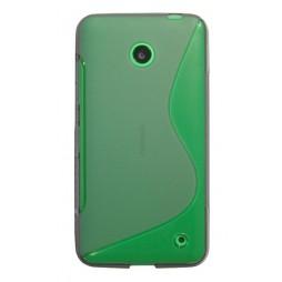 Nokia Lumia 630 - Gumiran ovitek (TPU) - sivo-prosojen SLine