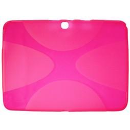 Samsung Galaxy Tab 4 10.1 (T530) - Gumiran ovitek (TPU) - roza-prosojen XLine
