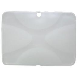 Samsung Galaxy Tab 4 10.1 (T530) - Gumiran ovitek (TPU) - sivo-prosojen XLine