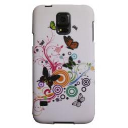 Samsung Galaxy S5/S5 Neo - Gumiran ovitek (TPUP) - Black butterflys