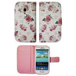 Samsung Galaxy S3 Mini - Preklopna torbica (WLGP) - Flowers