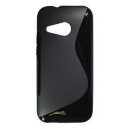 HTC One Mini 2 - Gumiran ovitek (TPU) - črn SLine