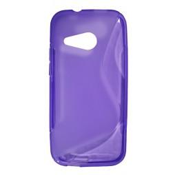 HTC One Mini 2 - Gumiran ovitek (TPU) - vijolično-prosojen SLine