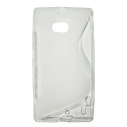Nokia Lumia 930 - Gumiran ovitek (TPU) - belo-prosojen SLine