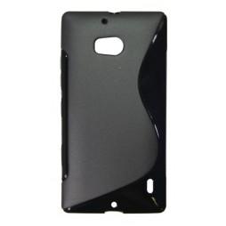 Nokia Lumia 930 - Gumiran ovitek (TPU) - črn SLine
