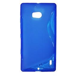Nokia Lumia 930 - Gumiran ovitek (TPU) - modro-prosojen SLine