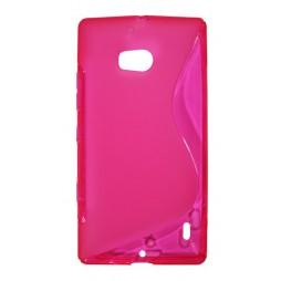 Nokia Lumia 930 - Gumiran ovitek (TPU) - roza-prosojen SLine