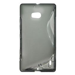 Nokia Lumia 930 - Gumiran ovitek (TPU) - sivo-prosojen SLine