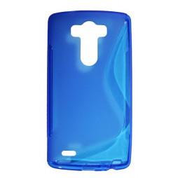 LG G3 - Gumiran ovitek (TPU) - modro-prosojen SLine