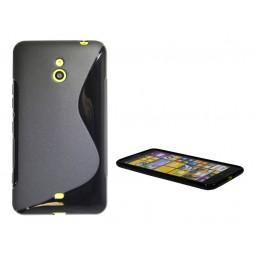 Nokia Lumia 1320 - Gumiran ovitek (TPU) - črn SLine