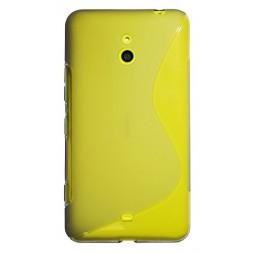 Nokia Lumia 1320 - Gumiran ovitek (TPU) - sivo-prosojen SLine
