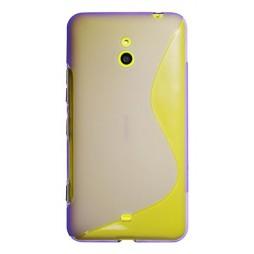 Nokia Lumia 1320 - Gumiran ovitek (TPU) - vijolično-prosojen SLine
