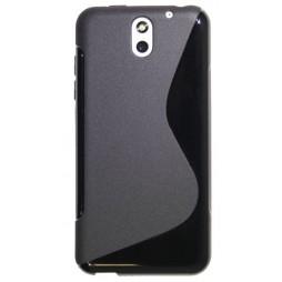 HTC Desire 610 - Gumiran ovitek (TPU) - črn SLine