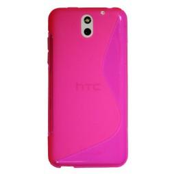 HTC Desire 610 - Gumiran ovitek (TPU) - roza-prosojen SLine