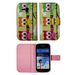 Samsung Galaxy Trend/S Duos - Preklopna torbica (WLGP) - Owls