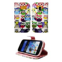 Samsung Galaxy Trend/S Duos - Preklopna torbica (WLGP) - Colorful owls