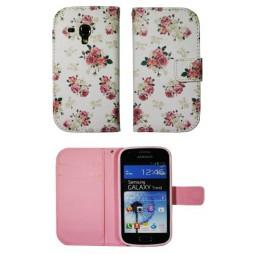 Samsung Galaxy Trend/S Duos - Preklopna torbica (WLGP) - Flowers
