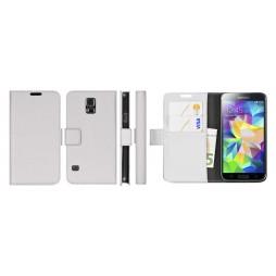 Samsung Galaxy S5 Mini - Preklopna torbica (WL) - bela