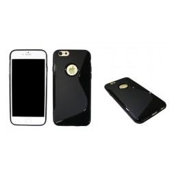 Apple iPhone 6/6S - Gumiran ovitek (TPU) - črn SLine