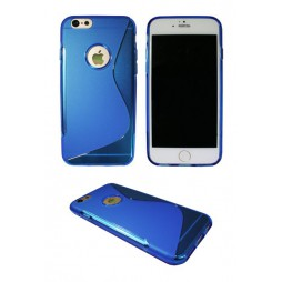 Apple iPhone 6/6S - Gumiran ovitek (TPU) - modro-prosojen SLine
