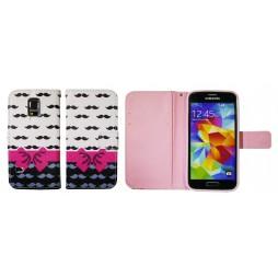 Samsung Galaxy S5 Mini - Preklopna torbica (WLGP) - Mustache