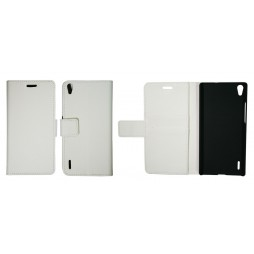 Huawei Ascend P7 - Preklopna torbica (WL) - bela