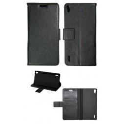 Huawei Ascend P7 - Preklopna torbica (WL) - črna