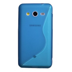 Samsung Galaxy Core 2 - Gumiran ovitek (TPU) - modro-prosojen SLine