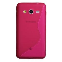 Samsung Galaxy Core 2 - Gumiran ovitek (TPU) - roza-prosojen SLine