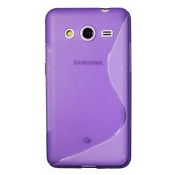Samsung Galaxy Core 2 - Gumiran ovitek (TPU) - vijolično-prosojen SLine