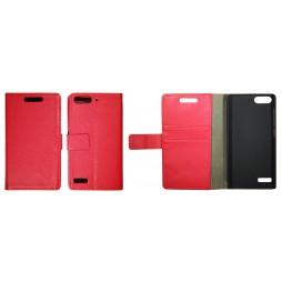Huawei Ascend G6 - Preklopna torbica (WL) - rdeča