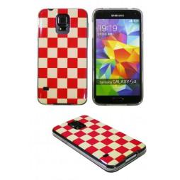 Samsung Galaxy S5/S5 Neo - Gumiran ovitek (TPUPS) - Šahovnica