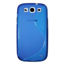 Samsung Galaxy S3 - Gumiran ovitek (TPU) - modro-prosojen SLine